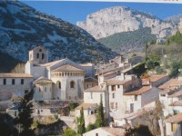 Village of Saint-Guilhem-le-Desert Languedoc near cottage