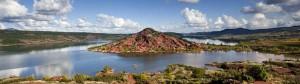 Hérault Lac du Salagou paysage proche location gite salsepareille