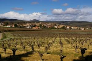 Vue de Fontès proche de la location de vacances