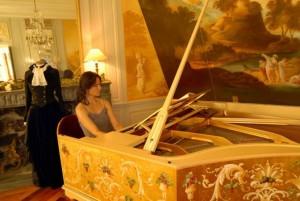 Roujan, Chateu abbaye de Cassan, spectacle de piano